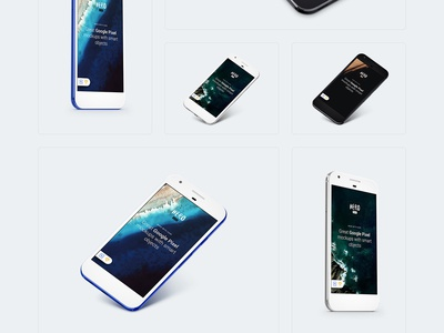 Free Google Pixel Mockup perspective android presentation black mockups mockup freebie free pixel google