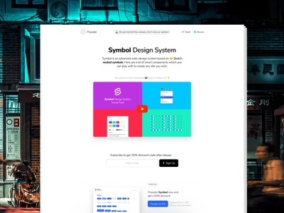 Sneak Peek Landing and Video light clean video sketch symbol web design web sneak peek promo landing page landing