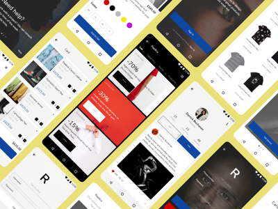 Replica Android UI Kit xd replica studio figma sketch craftwork design mobile material android ux kit ui kit