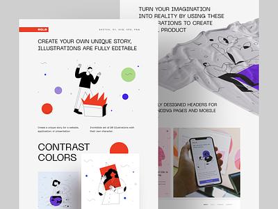 OSLO Presentation contrast minimal ui web landing colors presentation illustrations
