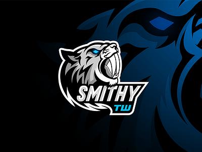 Saber Tiger Mascot Logo pluto designer ice tiger logo mascot logo illustration design