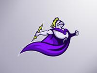 Mascot Logo for Over Power team⚡️🔥💥