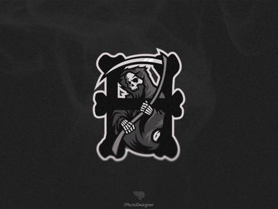 Grim Reaper Mascot Logo