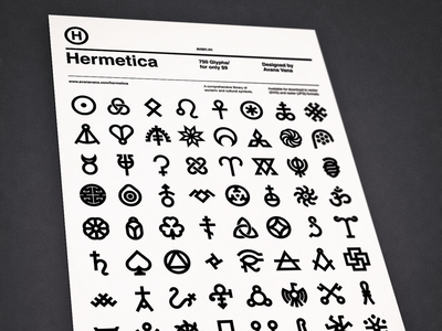 Hermetica Posters flat minimal swiss font typography symbol icon helvetica