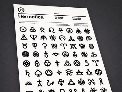 Hermetica Posters flat minimal swiss font typography symbol icon helvetica