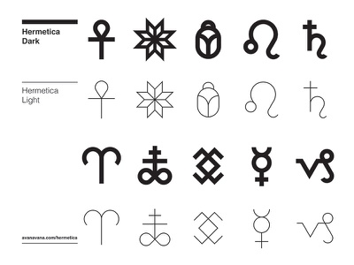 Hermetica Light icon design minimal swiss helvetica symbol icon typography font