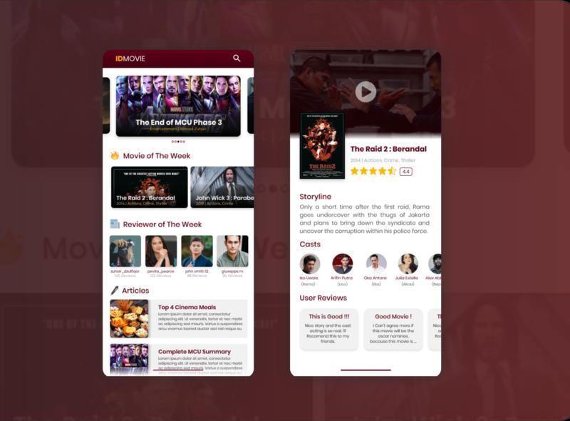 IDMOVIE | Movie Review App android app design android app iphone ios android uxdesign uidesign ux uiux ui review app movie app