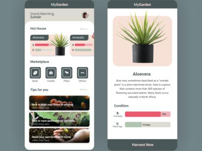 My Garden   IoT Control App ios flat design app android app design android app android ux uiux ui