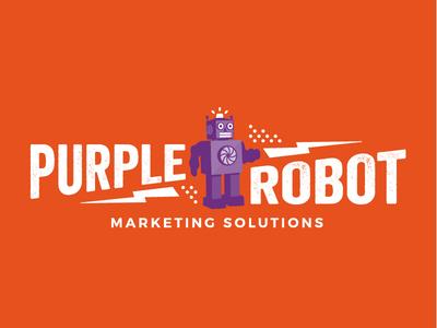 Purple Robot Logo Design
