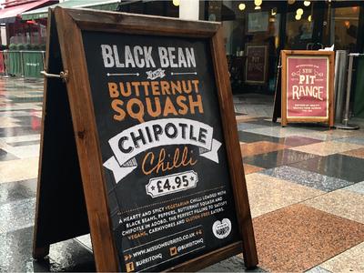 Mission Burrito A-board