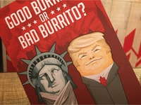 Cheeky Trump Comment Card for Mission Burrito