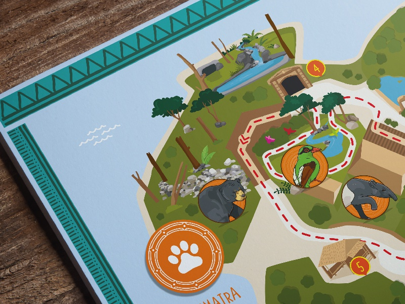 Chester Zoo Has Unveiled The New Zone Of Their Amazing Islands Project This Week And We Were Delighted To Work With Team On Illustrated Map