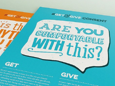 #GetandGive Consent Campaign charity culture speech flyers campaign teens teenagers sexual violence consent