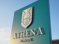 Athena School Logo Design