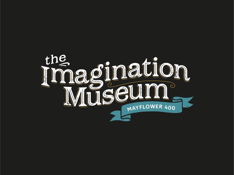 The Imagination Museum Logo antique vintage heritage dancing museum brand imagination mayflower dance theatre identity typography branding logo