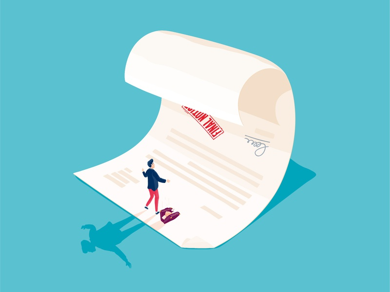Wilkin Chapman Business Services tax accounts solicitors finance overwhelmed business shock final notice spot illustration paperwork wave conceptual illustration forms