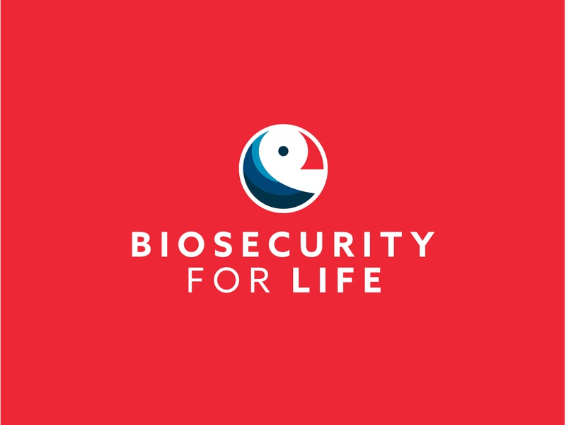 biosecurity for LIFE Logo Design life circle logo logotype bird icon biosecurity waves sea identitiy puffin seabird branding brand logo