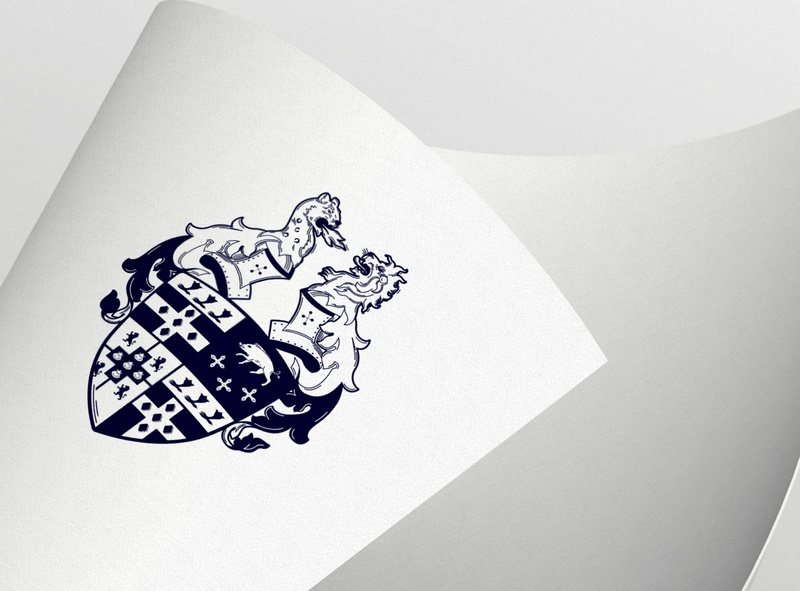 South Ormsby Family Crest shield logo family crest family tree knight lion brand arms crest family shield logo illustration