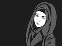 Muslim Girl illustration