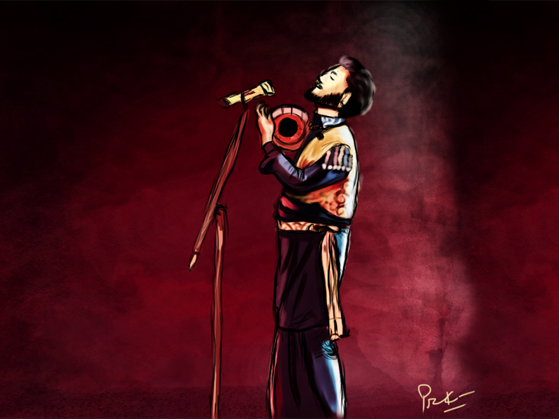 Gurdas Maan legend singing music background punjab design graphic illustration