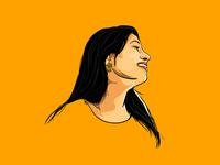 Cartoon of my beautiful wife.