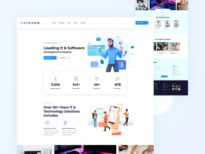 IT & Software Company Template software company it agency corporate startup clean modern business creative