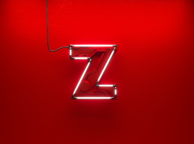 LOGO ZAN Neon red clean