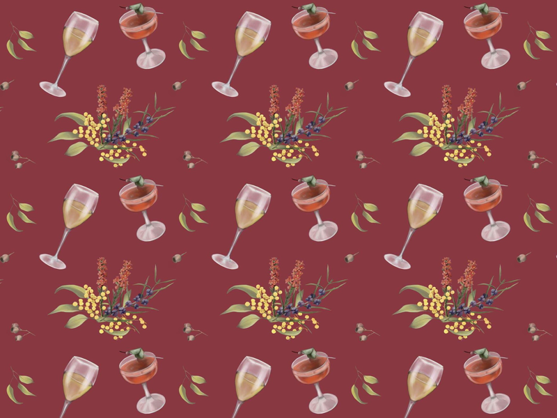 Wine & Cocktail Wallpaper- The Vale Bar & Eatery
