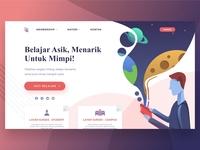 Layar Sukses - Landing Page UI Design