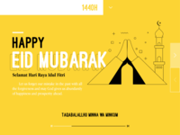 Happy Eid Mubarak - Interface