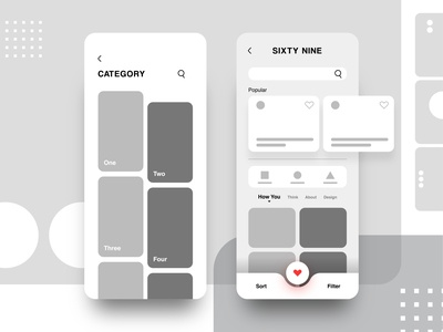 Category Page - Mobile App Design
