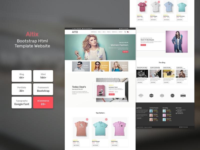 Aitix - HTML Website Template typographer typedaily responsive webpage userinterfacedesign websitedesigner uitrends typeinspire