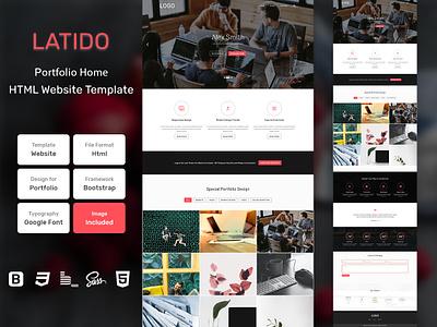 Latido Portfolio Home Page HTML Web Template V1.0 shop web bem homepage sass website html blog portfolio personal business services page