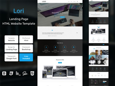 Lori Landing Page HTML Web Template V1.0 store shop web bem homepage sass website html blog portfolio personal business