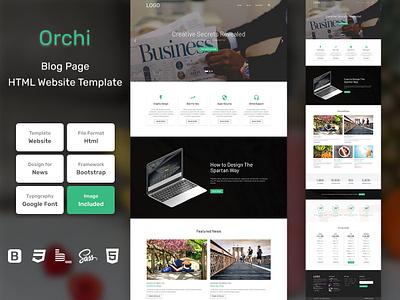 Orchi Blog Page HTML Web Template V1.0 store shop web bem homepage sass website html blog portfolio personal business