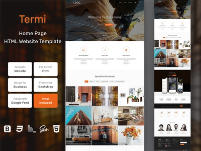 Termi Business HTML Web Template V1.0 store shop web bem homepage sass website html blog portfolio personal business