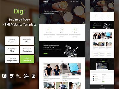 Digi Business HTML Web Template V1.0 store shop web bem homepage sass website html blog portfolio personal business