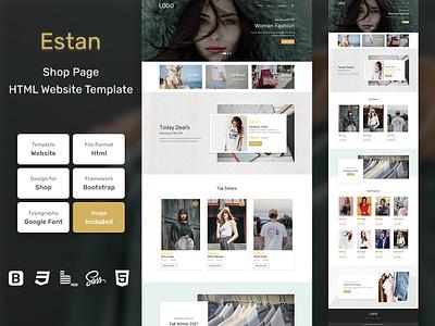 Estan Store Page HTML Web Template V1.0 store shop web bem homepage sass website html blog portfolio personal business