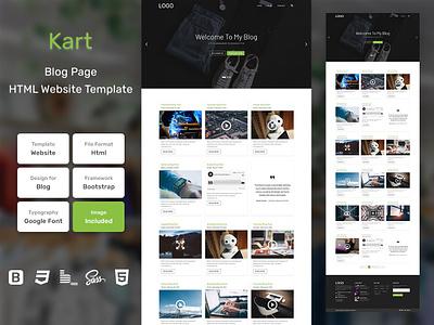 Kart Blog Page HTML Web Template V1.0 store shop web bem homepage sass website html blog portfolio personal business