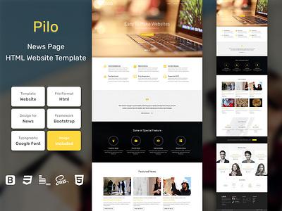 Pilo News Page HTML Web Template V1.0 store shop web bem homepage sass website html blog portfolio personal business