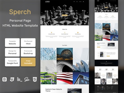 Sperch Personal Page HTML Web Template V1.0 store shop web bem homepage sass website html blog portfolio personal business