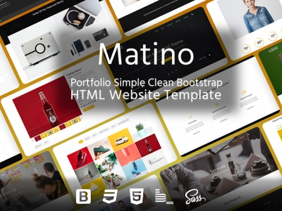 Matino – Portfolio Simple Clean Bootstrap HTML Website Template multipurpose clean creative corporate fashion store ecommerce landing page minimal portfolio business