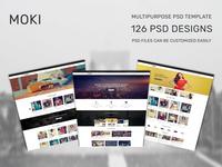Moki - Multipurpose 126 PSD Template Showcase Option 81