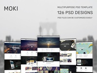 Moki - Multipurpose 126 PSD Template Showcase Option 83