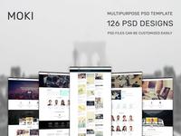 Moki - Multipurpose 126 PSD Template Showcase 85