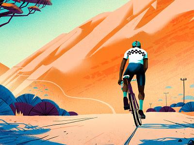 Eroica South Africa 2020 eroica race vintagebicyclerace poster landscape montague travel vintage cycling texture photoshop illustration