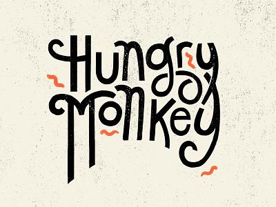 Hungry Monkey - Mercer Bikes hungrymonkey mercerbikes energy playful handjob handfont typography monkey hungry design photoshop illustration