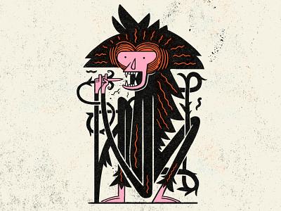 Hungry Monkey - Mercer Bikes design monkey logo geometric characterdesign monkey character texture photoshop illustration
