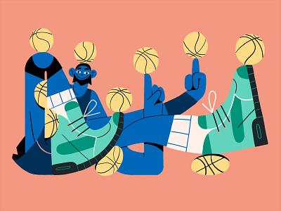Frost Basketball Dude basketball player balls athlete basketball character photoshop illustration