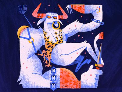 Minotaur horns abstract gaprhic picasso maze mythology minotaur bull character texture photoshop illustration